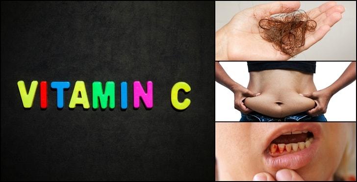 اعراض نقص فيتامين سي