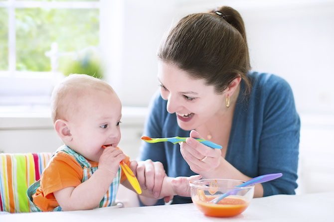 غذاء الطفل في الشهر السابع